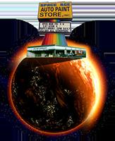 Space Age Auto Paint Store Logo